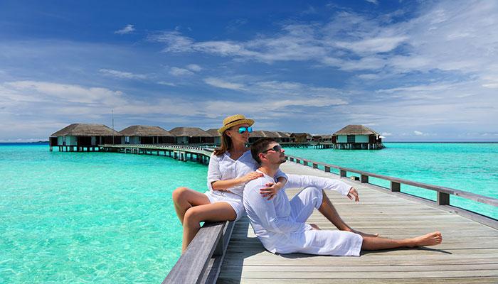 huwelijksreis malediven watervilla